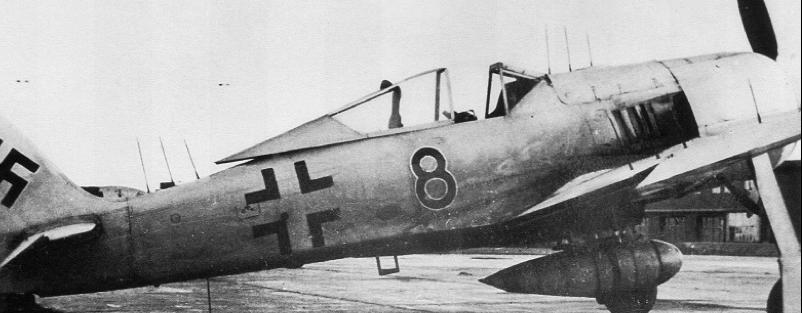 Антенны РЛС FuG-217 (Neptun) на самолете FW 190-А