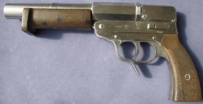 Двухствольный сигнальный пистолет Lauflose Fliegerpistole System Eisfeld model L