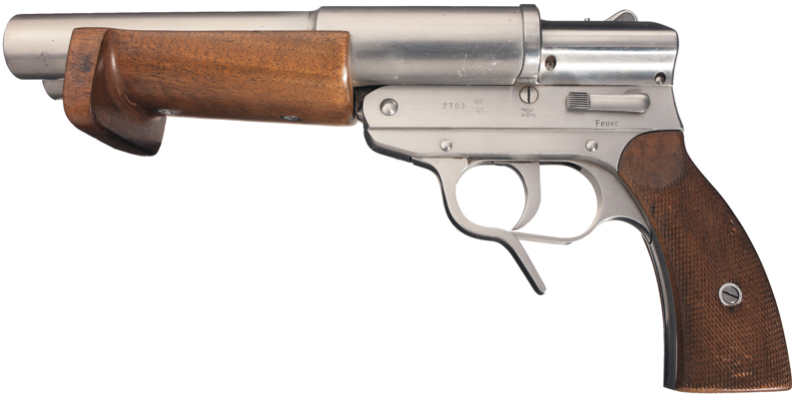 Двухствольный сигнальный пистолет Dopellaufige Signal - und Leuchtpistole (SLD) из нержавеющей стали
