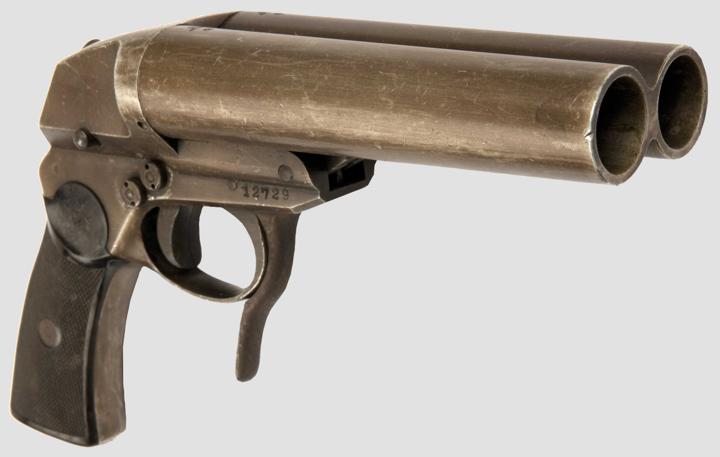 Двухствольный сигнальный пистолет Dopellaufige Signal - und Leuchtpistole (SLD) из алюминиевых сплавов