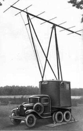 Двухантенный вариант РЛС РУС–2. Приёмная установка с вращающейся вместе с антенной кабиной оператора