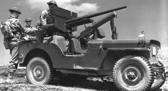 Противотанковая пушка «Виллис» оснащён пушкой M-3