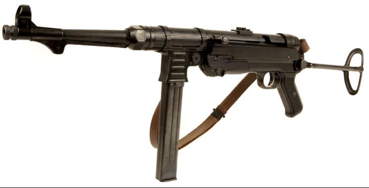 MP-40 с откинутым прикладом