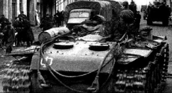 Танковый тягач на базе танка КВ-1С
