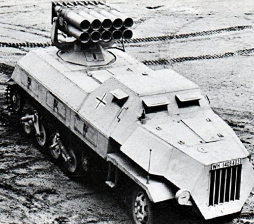 Самоходная пусковая установка 15-cm Panzerwerfer 42Auf Sf (Sd.Kfz.4/1)
