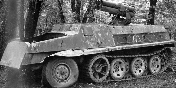 Самоходная пусковая установка 15-cm Panzerwerfer 42 auf sWS