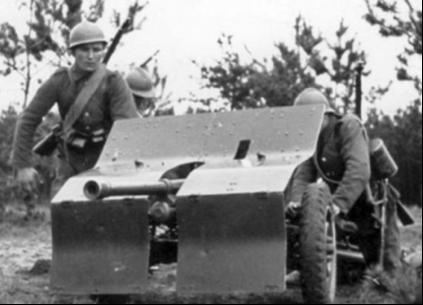 Противотанковая пушка 37-mm Bofors wz.36