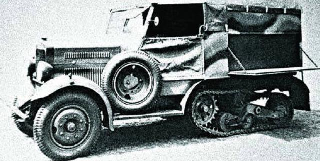 Полугусеничный тягач Polski-Fiat C4P/621L (wz.34)