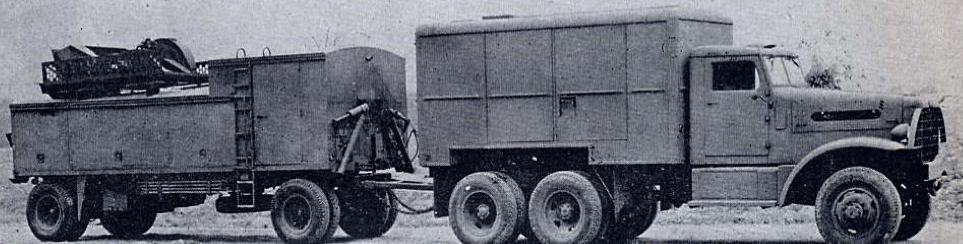 РЛС SCR-545 в транспортном положении