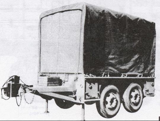 РЛС SCR-784 в транспортном положении