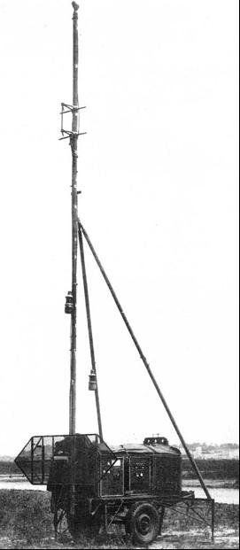 Передвижная РЛС SCR-592 (AN/CRN-2) на прицепе V-1