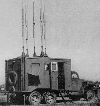 Мобильная РЛС AN/MRN-2, смонтированная в фургоне К-53