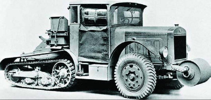 Полугусеничный артиллерийский тягач «FN Kégresse»