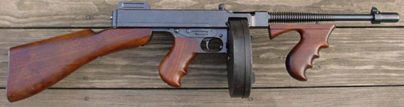 Пистолет-пулемет Thompson M-1921 с 50-зарядным магазином