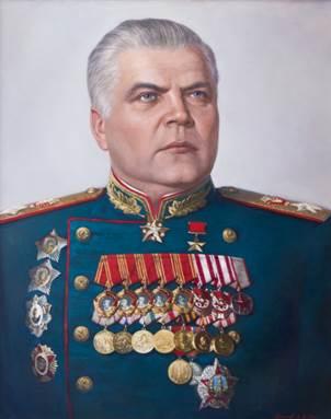 Командующий 2-м Украинским фронтом Малиновский Р.Я. (26.04.1945) - за освобождение территорий Венгрии и Австрии.
