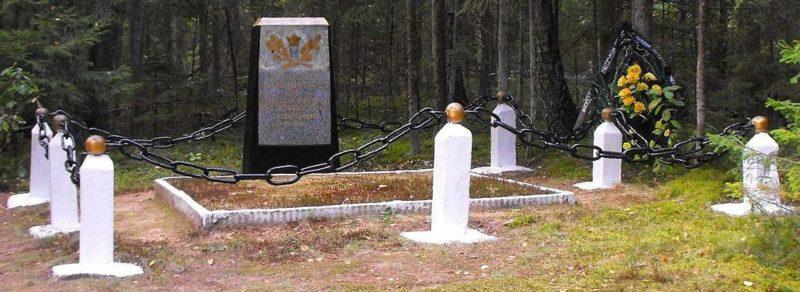 д. Клетише Воложинского р-на. Памятник партизанам отряда 106