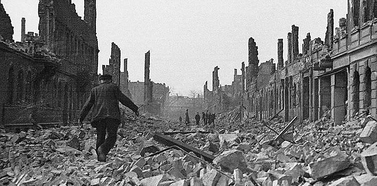Виды разрушенного Дрездена