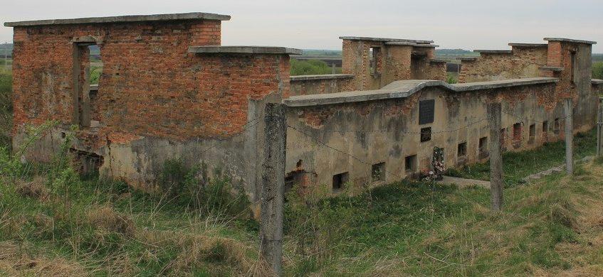 д. Колдычево Барановичского р-на. Развалины здания тюрьмы лагеря