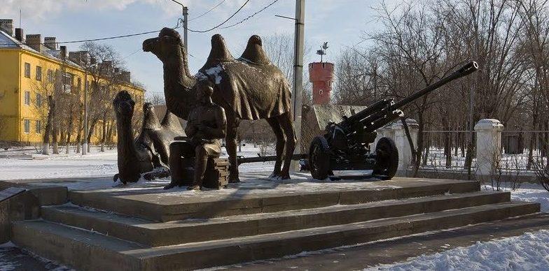 г. Ахтубинск. Общий вид памятника «Мы победили!»
