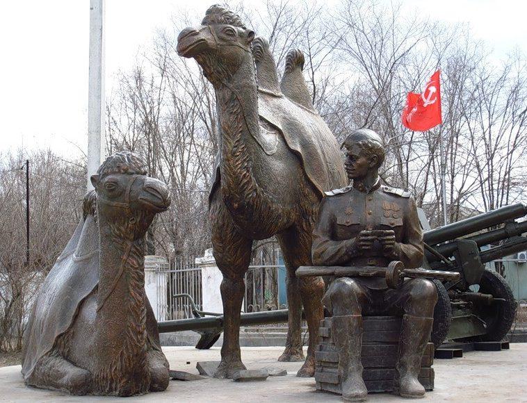г. Ахтубинск. Фрагмент памятника «Мы победили!»