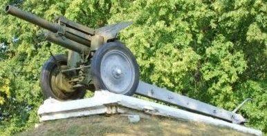 д. Старица Копыльского р-на. 122-мм гаубица