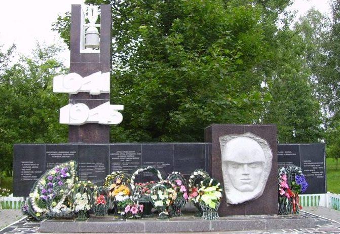д. Русино Барановичского р-на. Братская могила и памятник