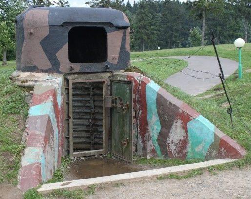 д. Лошаны в Минского р-на. Немецкий пулеметный броневой колпак