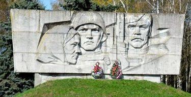 д. Заполье Слуцкого района. Памятник воинам, погибшим в годы войны