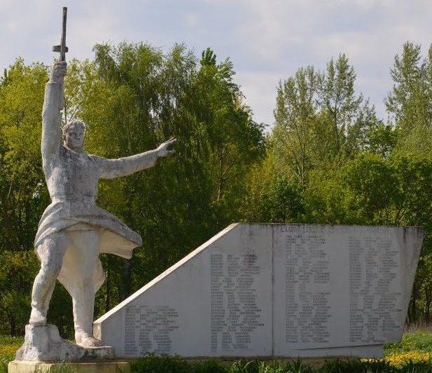 д. Чепели Солигорского р-на. Памятник погибшим в войне