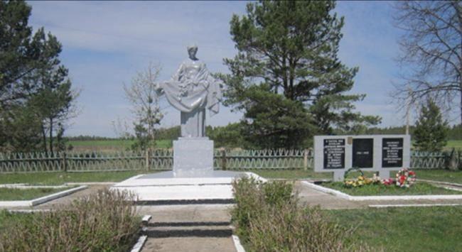 д. Боровино Березинского р-на. Памятник на братской могиле