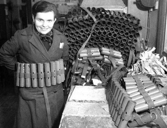 Патронташ для 37-мм мин миномета-лопаты.