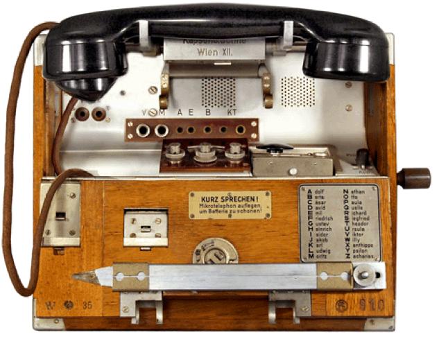Полевой телефон фирмы Kapsch & Sohne М-35 (W-XII)