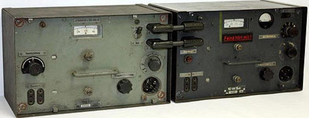 Танковая радиостанция Fu 5 SE 10 U (Fu 5). Слева - приемник Ukw.E.e. Справа – передатчик 10 W.S.c.
