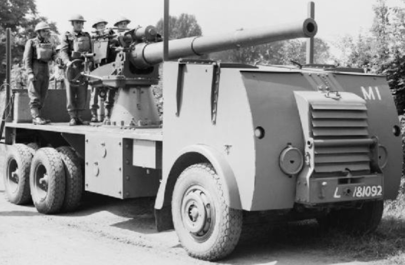 САУ 4″ Mobile Naval Gun