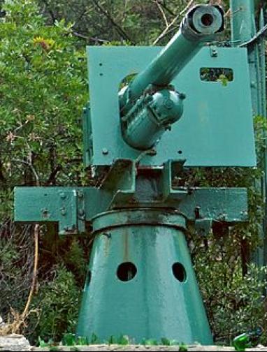 Береговое орудие QF-6 pounder Hotchkiss