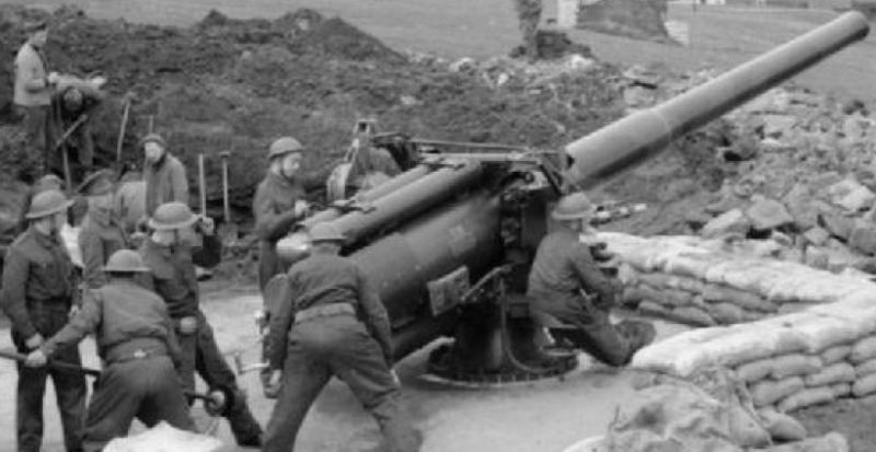 Береговое орудие QF-5.5 inch Mk-I
