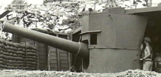Береговое орудие BL-6 inch gun Mk-V