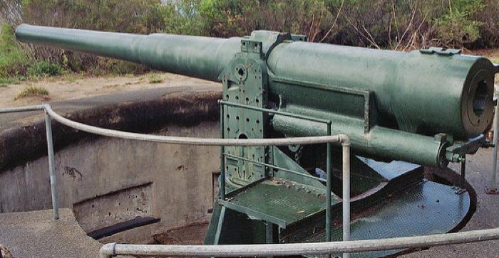 Пушка BL-6 inch Gun Mk-VII береговое орудие