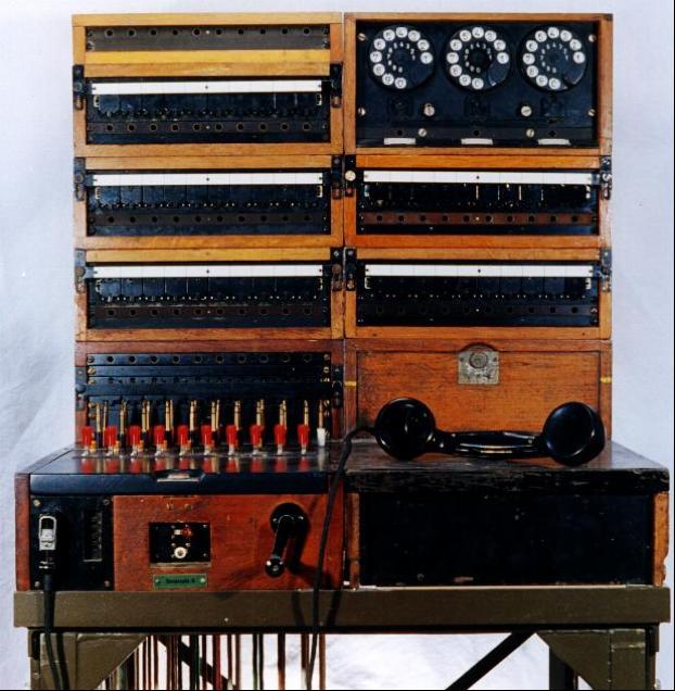 Телефонный коммутатор «Grosse Feldklappenschrank» (Field Switchboard) коммутатор на 50 линий