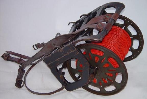 Складывающееся приспособление для переноски катушки с проводом