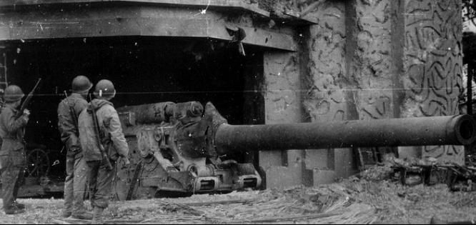 Тяжелая осадная пушка 21-cm Kanone-39 береговой вариант