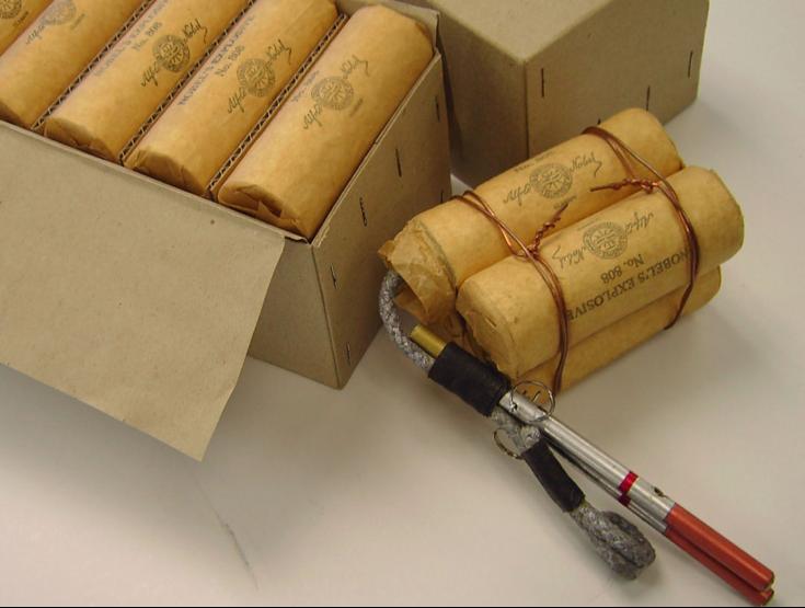 Шашка пластичной взрывчатки Nobels explosive №808