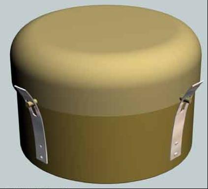 Рисунок противотанковой мины A.T. Mine G.S. Mk-IV