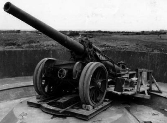 Canon-dе-155 GPF mle.1917 в качестве берегового орудия