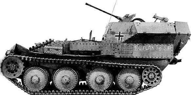 ЗСУ Flakpanzer 38(t)