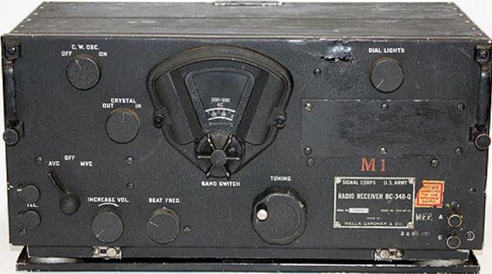 Приемник ВС-348 из комплекта радиостанции SCR-193