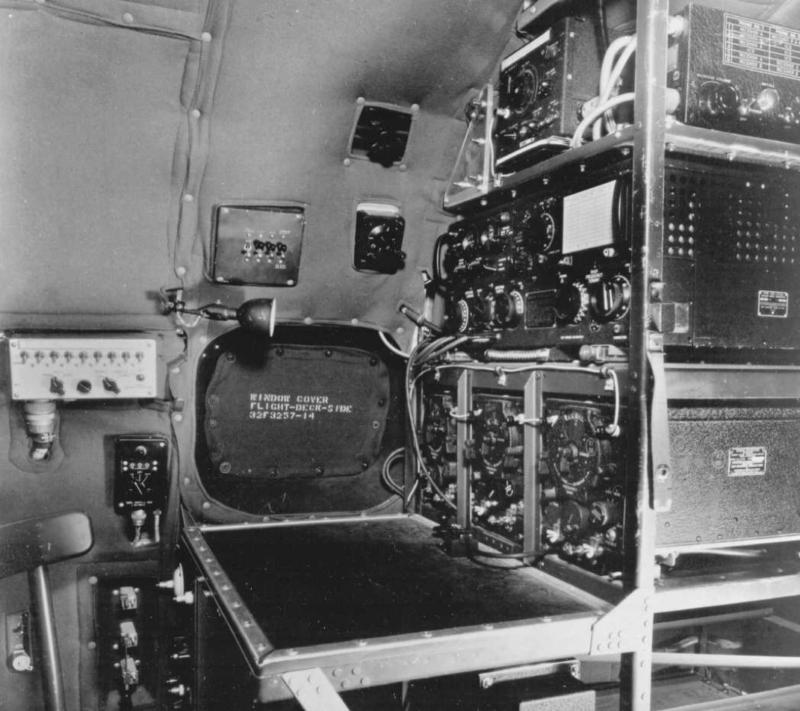Слежечный комплект, установленный на PBY-5A Каталина