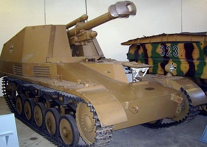 САУ Geschützwagen II fuer le.F.H.18/2 (Sf.) «Wespe»