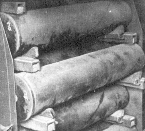 Гильзы и снаряды 128-мм орудия