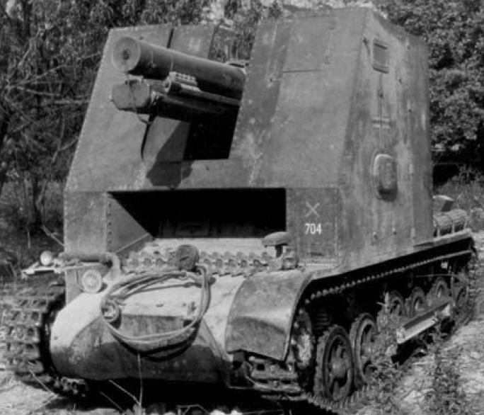 САУ 15-cm SIG-33 Sfl. auf Pz.KpfW.I Ausf B ohne Aufbau (Sturmpanzer I)